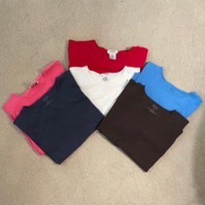 Bundle of 6 Talbots Sz. XL Ladies Tee Shirts